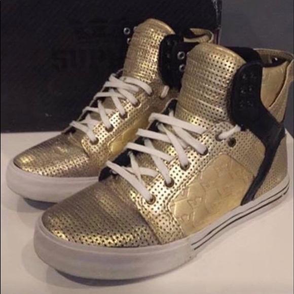 Supra Shoes | Supra Skytop Blackgold